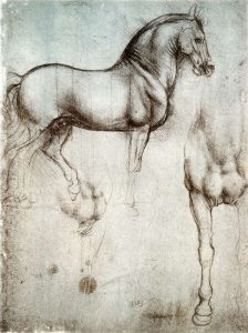 Several of Leonardo's Horse Sketches