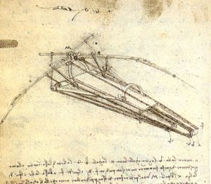 One of Leonardo's Designs for Fligh