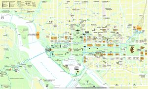 Map of the main tourist sites near the National Mall