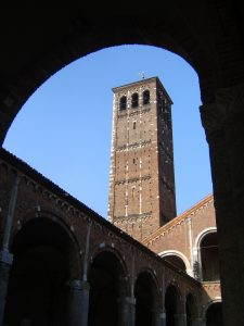 A church bell tower in Italy.