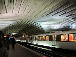 The D.C. Subway system from underground.